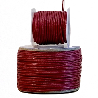 Wax Cotton Cord:  BERRY - 1MM
