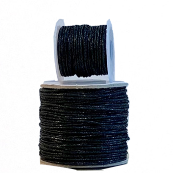 Wax Cotton Cord:  BLACK - 1MM