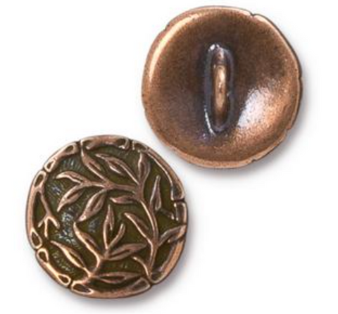 Button:  Bamboo by Tierracast:  Copper