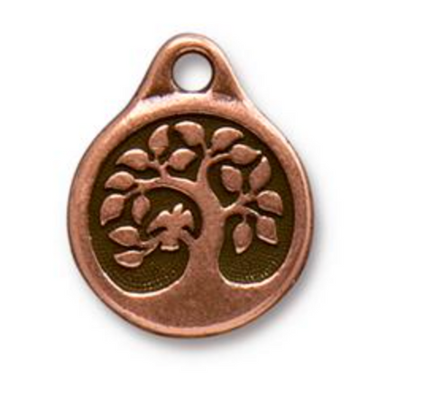 Bird in a Tree Charm  - Copper - TieeraCast
