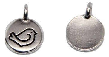 Birdie Charm - Antique Silver - TierraCast
