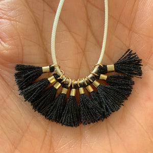 Black - Tiny Tassel