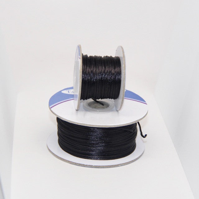 Black - Nylon Satin- 1MM