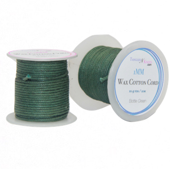 Wax Cotton Cord:  BOTTLE GREEN - 10M Spool
