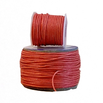Wax Cotton Cord:  CORAL - 1MM
