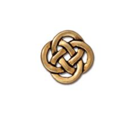 Small Open Celtic Link :  Gold:  Tierracast