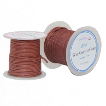 Wax Cotton Cord:  CINNAMON - 10M Spool