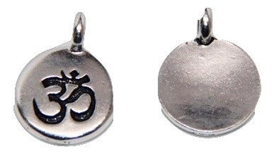 Circle Ohm Charm - Antique Silver