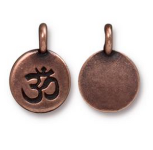 Circle Ohm Charm - Copper - TierraCast