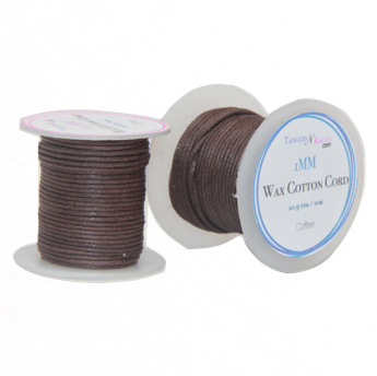 Wax Cotton Cord:  COFFEE - 10M Spool