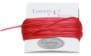Cranberry - Wax Polyester Surfer Cord - 5 or 10 yards