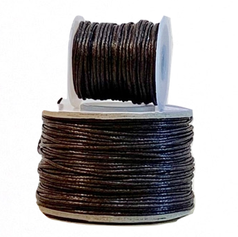 Wax Cotton Cord:  DARK BROWN - 1MM