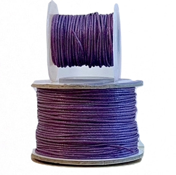 Wax Cotton Cord:  DEEP PURPLE - 1MM