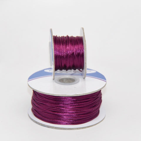 Deep Plum - Nylon Satin- 1MM