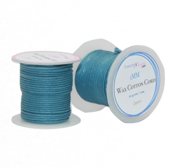 Wax Cotton Cord:  DENIM - 10M Spool