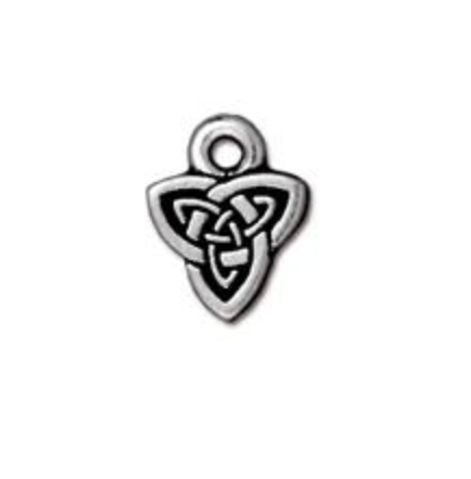 Drop, Celtic Triad - Silver - TierraCast