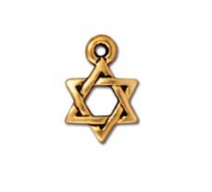 Drop, Star of David - Silver - TierraCast