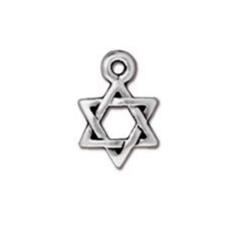 Drop, Star of David - Gold - TierraCast
