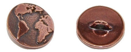 Button Earth - Copper Plated
