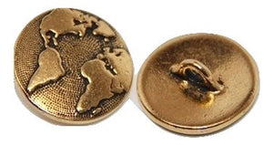Button:  Earth by TierraCast:   Gold