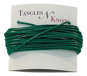 Emerald - Wax Polyester Surfer Cord - 5 or 10 yards