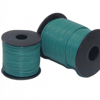 Indian Leather:    Emerald Blue - 25M Roll