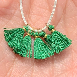 Emerald - Tiny Tassel
