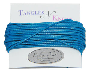 Endless Blue - Wax Polyester Surfer Cord - 5 yard bundle