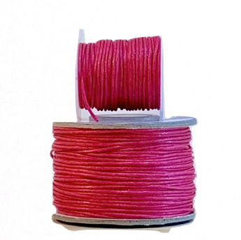 Wax Cotton Cord:  FUSCHIA - 1MM