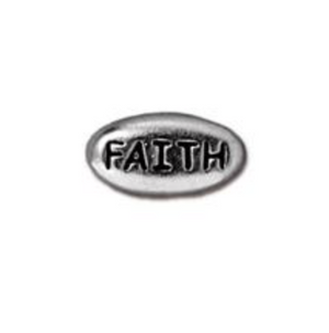 Faith Bead :  Silver:  Tierracast:  2 pieces