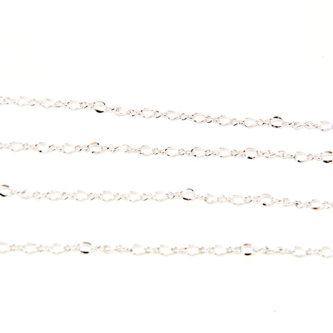 Figure 8 Chain - 3MM - Silver Plated