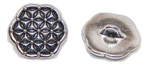 Flower of Life Button - Silver - TierraCast