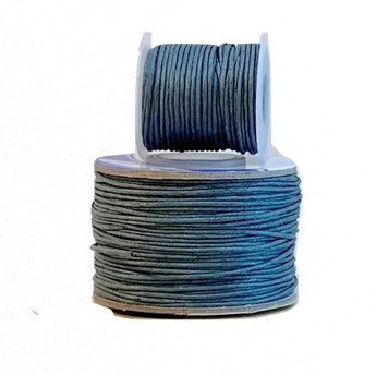 Wax Cotton Cord:  GREY - 1MM