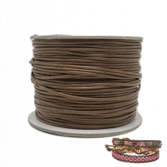Gingerbread - Wax Polyester Surfer Cord - 90 yd rolls