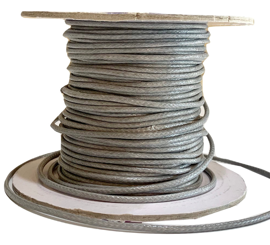 Gray - Wax Polyester Surfer Cord - 45 yd rolls