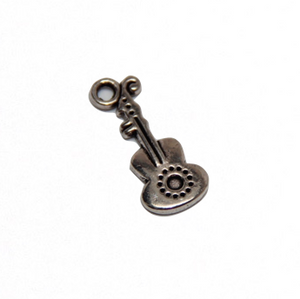 Guitar Charm - Antique Silver