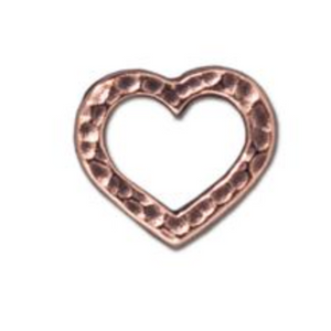 Hammertone Heart Link :  Copper:  Tierracast