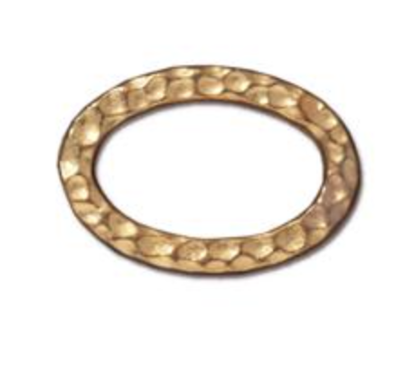 Hammered Oval Link :  Gold:  Tierracast