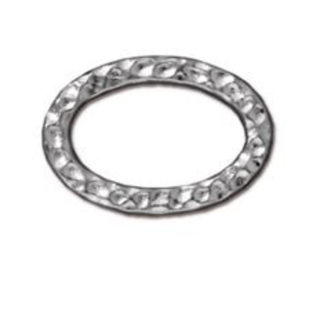 Hammered Oval Link :  Silver:  Tierracast