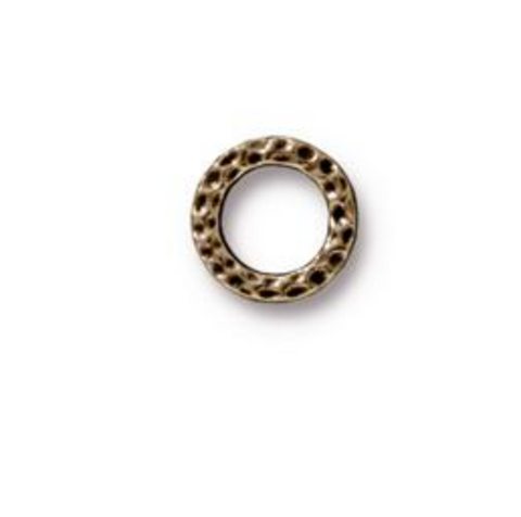 Small Hammertone Ring Link :  Bronze:  Tierracast