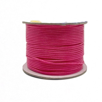 Hot Pink - Wax Polyester Surfer Cord - 90 yd rolls