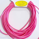 Hot Pink - Wax Polyester Surfer Cord - 5 yard bundle