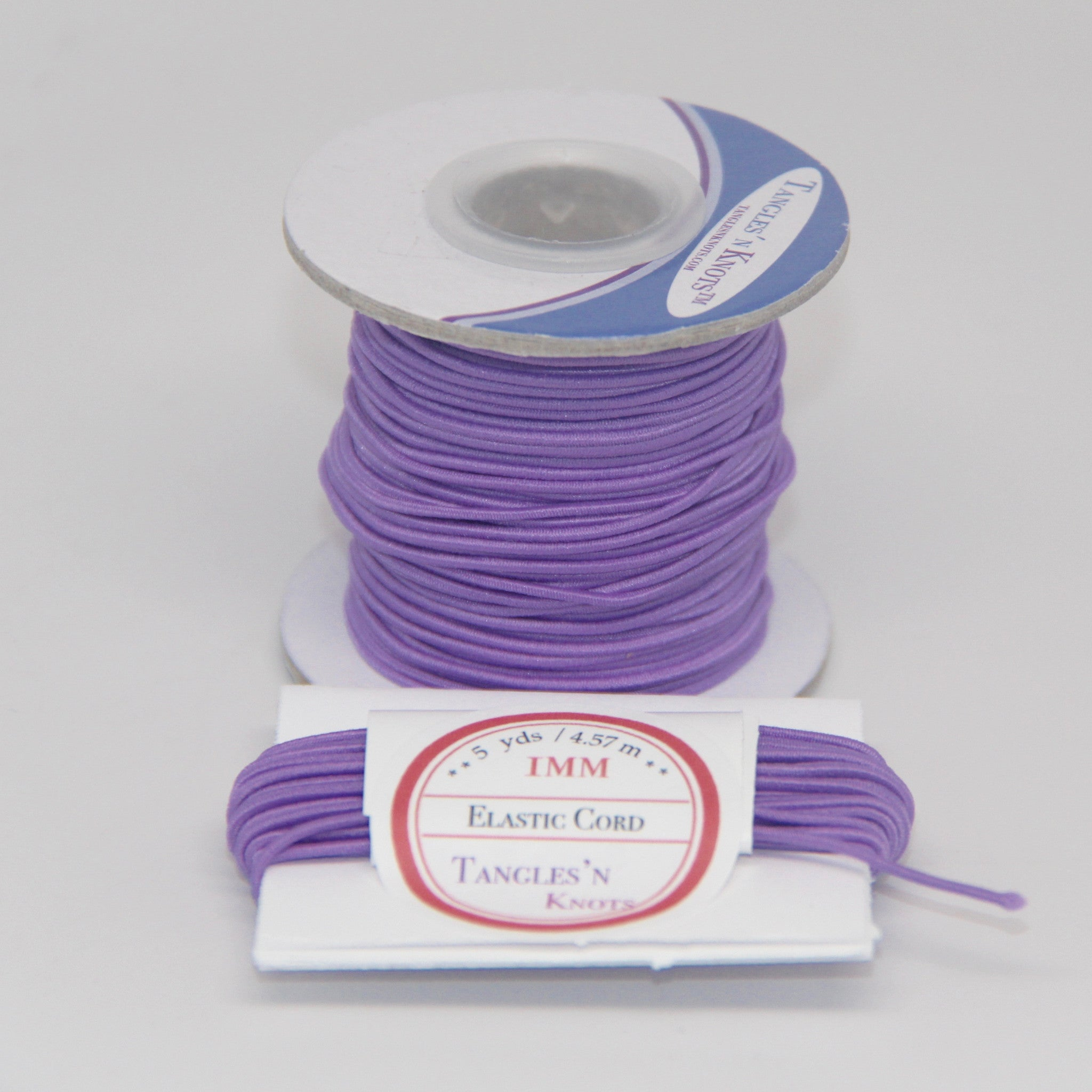 Elastic Cord 1mm Light Iris Tangles N Knots