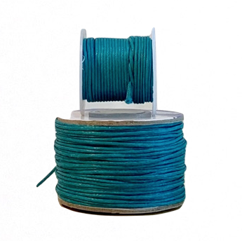 Wax Cotton Cord:  JEWEL BLUE - 1MM