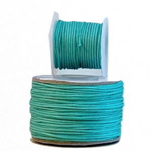 Wax Cotton Cord:  LAGOON - 1MM