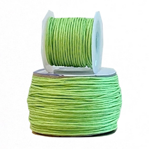 Wax Cotton Cord:  LIME - 1MM