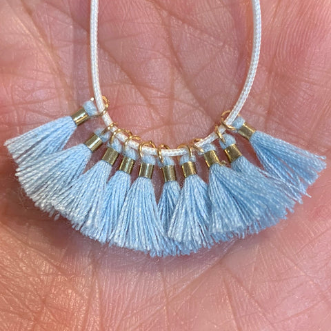Light Blue - Tiny Tassel
