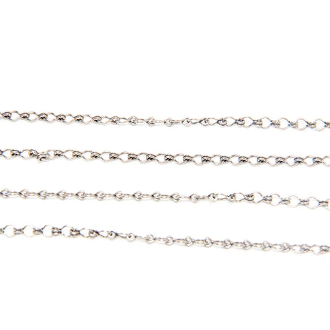 Brass Ladder Chain - 6 x 3.5MM - Silver Plated - TierraCast