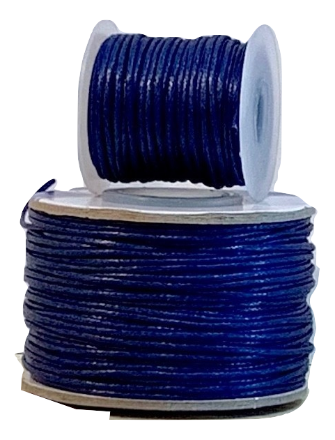 Wax Cotton Cord:  MIDNIGHT BLUE - 1MM