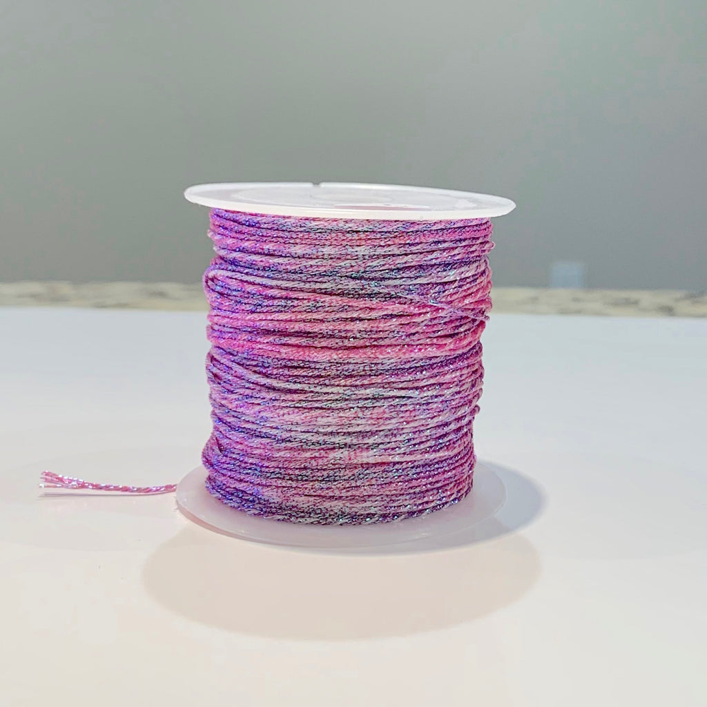 Metallic Strand Cord - Pink Flower Mix